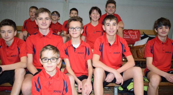 FFTT – Second tour du Championnat par équipes jeunes du CD 67